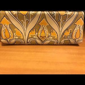 Prada multicolor leather clutch
